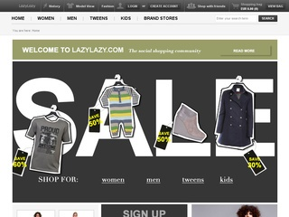 lazy Social Shopping med LAZYLAZY.com